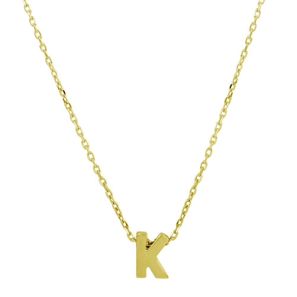 Sterling silver gold plated small initial k necklace sterling silver gold plated small initial k necklace jcp00001gp k aloadofball Image collections