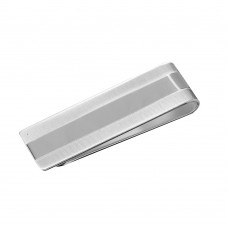 Sterling Silver High Polished And Matte Finished Money Clip - MONEYCLIP1