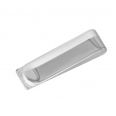 Sterling Silver High Polished And Matte Finished Money Clip - MONEYCLIP4