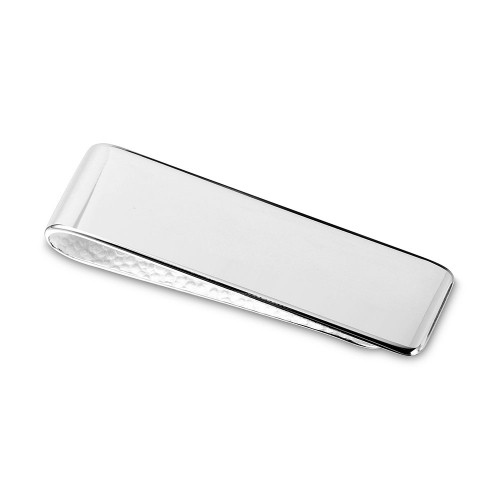 Wholesale Sterling Silver 925 High Polished Engravable Money Clip - MONEYCLIP6