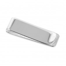 Sterling Silver High Polished Engravable Money Clip - MONEYCLIP7