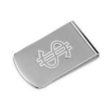 Sterling Silver High Polished Money Clip With Dollar Sign - MONEYCLIP8