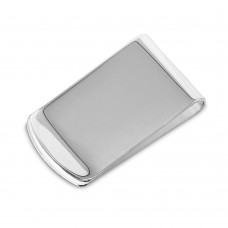 Wholesale Sterling Silver 925 High Polished Wide Money Clip - MONEYCLIP9