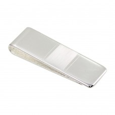 Wholesale Sterling Silver 925 Rhodium Plated Matte Bar Moneyclip - MONEYCLIP12