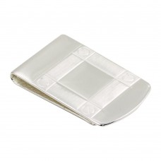 Wholesale Sterling Silver 925 Rhodium Plated Wide Moneyclip - MONEYCLIP13