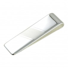 Wholesale Sterling Silver 925 Matte and High Polished Money Clip - MONEYCLIP14