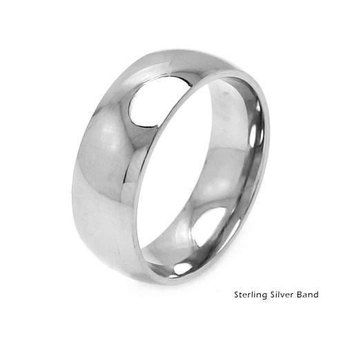 Wholesale Sterling Silver 925 Plain Wedding Band Round Ring - RING01-7MM