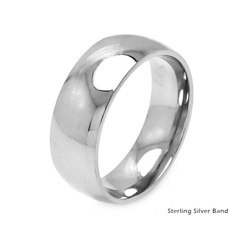 Wholesale Sterling Silver 925 Plain Wedding Band Round Ring - RING01-8MM