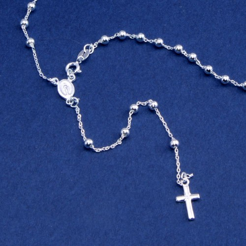 Wholesale Sterling Silver 925 High Polished Rosary 3mm - ROS07-3MM