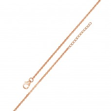 Wholesale Sterling Silver 925 Rose Gold Plated Adjustable Extension Chain 1.2mm - S025RGP-CLAW