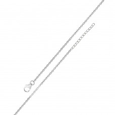 Wholesale Sterling Silver 925 Rhodium Plated Adjustable Extension Chain 1.2mm - S025RH-CLAW