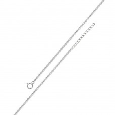 Wholesale Sterling Silver 925 Rhodium Plated Adjustable Extension Chain 1.2mm - S025RH-SPRING
