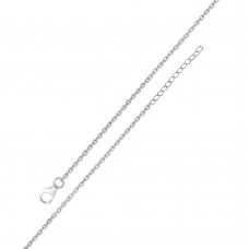 Wholesale Sterling Silver 925 Rhodium Plated Adjustable Extension Chain 1.25mm - S030RH-CLAW