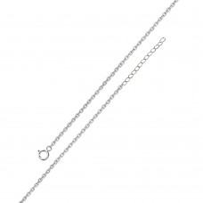 Wholesale Sterling Silver 925 Rhodium Plated Adjustable Extension Chain 1.25mm - S030RH-SPRING