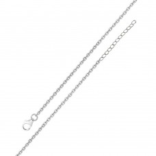 Wholesale Sterling Silver 925 Rhodium Plated Adjustable Extension Chain 1.6mm - S040RH-CLAW