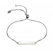Wholesale Sterling Silver 925 Rhodium Plated ID Lariat Bracelet - SOB00004