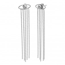 Wholesale Sterling Silver 925 Rhodium Plated Crying Eyes Stud Earrings - SOE00018
