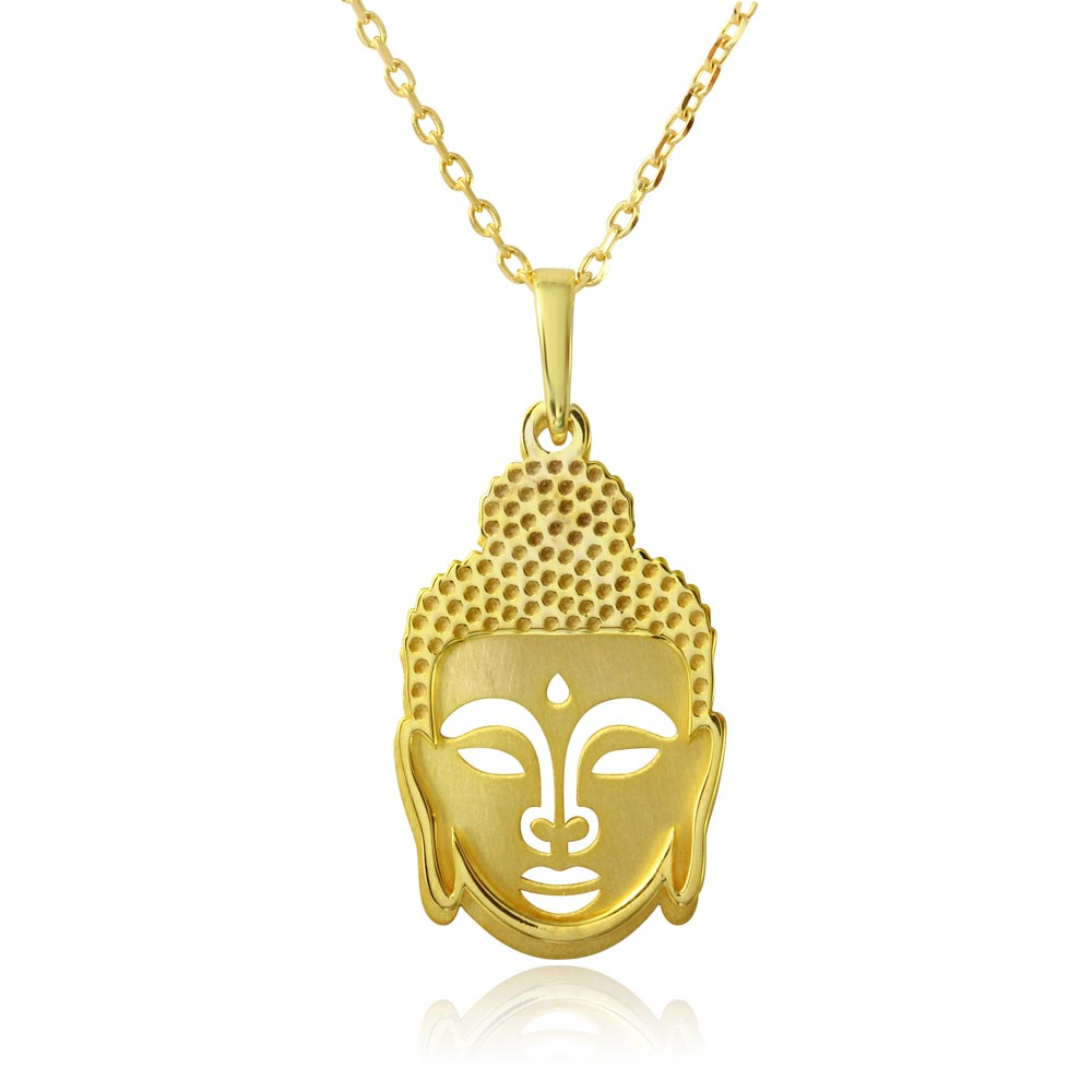 Wholesale sterling silver 925 gold plated buddha pendant necklace wholesale sterling silver 925 gold plated buddha pendant necklace sop00011 mozeypictures Gallery