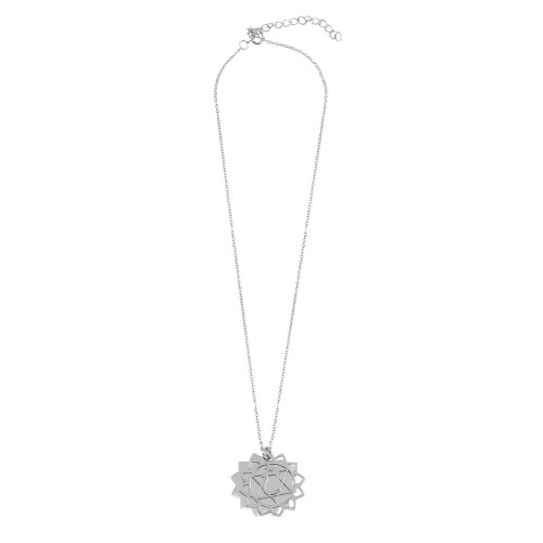 Wholesale Sterling Silver 925 Rhodium Plated Chakra Symbol Necklace - SOP00050