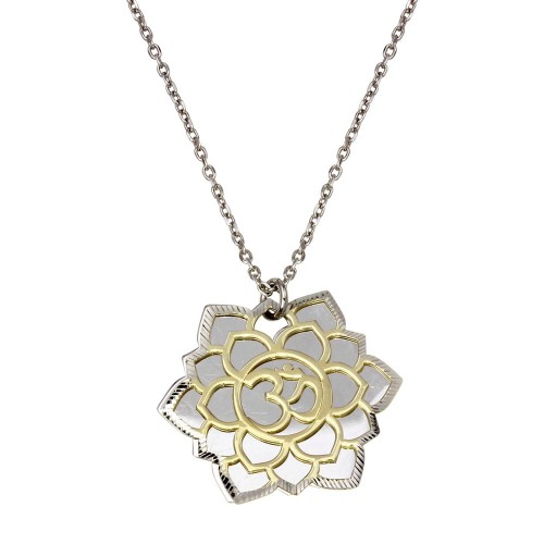 Wholesale Sterling Silver 925 Rhodium Plated Crown Chakra Necklace - SOP00060