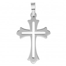 Wholesale Sterling Silver 925 Rhodium Plated Open Cross Pendant - SOP00067