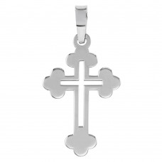 Wholesale Sterling Silver 925 Rhodium Plated Open Cross Pendant - SOP00068