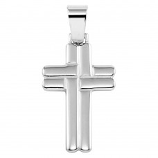 Wholesale Sterling Silver 925 Rhodium Plated Cross Pendant - SOP00072