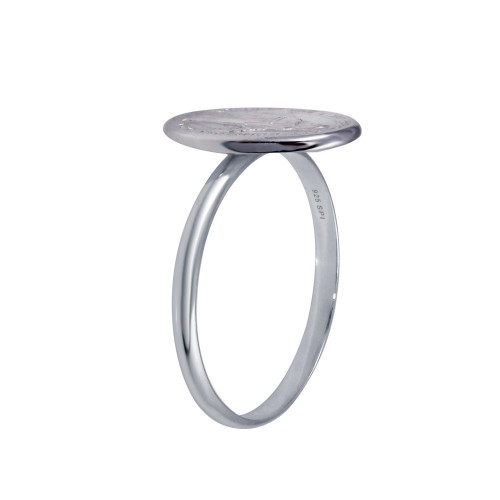 Wholesale Sterling Silver 925 High Polished Mary Medallion Ring - SOR00026