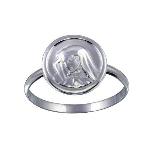 Wholesale Sterling Silver 925 High Polished Mary Medallion Ring - SOR00027