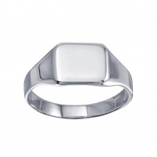 Wholesale Sterling Silver 925 High Polished Square Engravable Ring - SOR00033