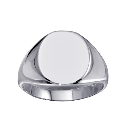Wholesale Sterling Silver 925 High Polished Oval Engravable Ring - SOR00034