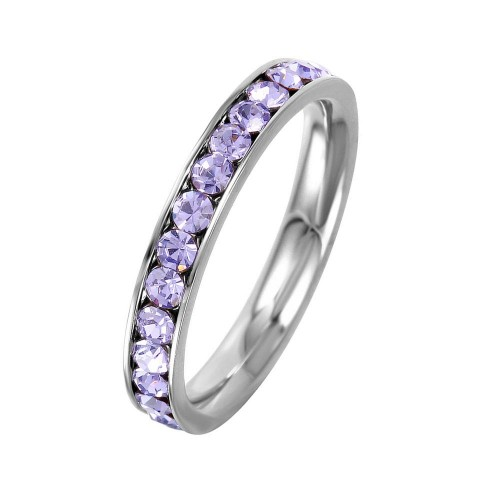 Wholesale Stainless Steel CZ Eternity Band June - SSR15JUN