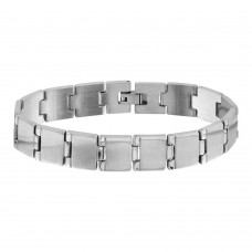 Wholesale Stainless Steel Square Link Bracelet - SSB00261