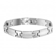 Wholesale Stainless Steel Matte and High Polished Link Bracelet - SSB00263