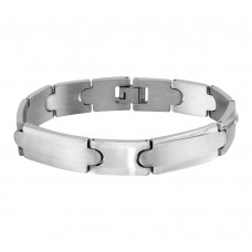 Wholesale Stainless Steel Matte and High Polished Link Bracelet - SSB00269