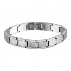 Wholesale Stainless Steel Matte and High Polished Link Bracelet - SSB00271