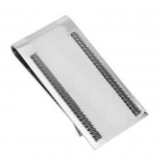 Stainless Steel Matte and Polished Money Clip - SSM00010