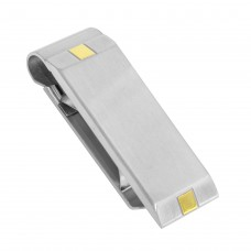 Stainless Steel Matte and Gold Plated Money Clip - SSM00015