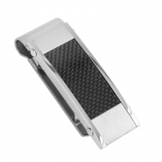 Stainless Steel Matte and High Polished Hinge Money Clip - SSM00017