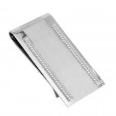 Wholesale Stainless Steel Matte and High Polished Money Clip - SSM00025