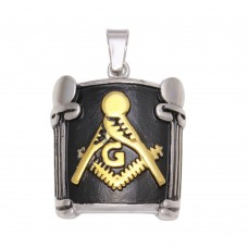 Wholesale Stainless Steel Tri-Colored Men's Masonic Pendant - SSP00510