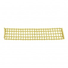 Wholesale Sterling Silver 925 Gold Plated Round Clear CZ Net Bracelet - STB00361GP