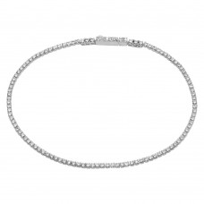 Wholesale Sterling Silver 925 Rhodium Plated CZ Tennis Bracelet - STB00558RH