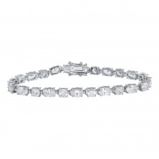 Sterling Silver Rhodium Plated CZ Tennis Bracelet - STB00560