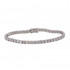 Wholesale Sterling Silver 925 Rhodium CZ Tennis Bracelet - STB00565
