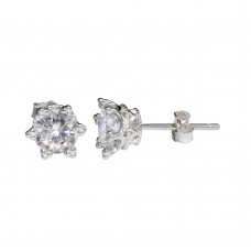 Wholesale Sterling Silver 925 Rhodium Plated Star Stud Earrings - STE01148RH