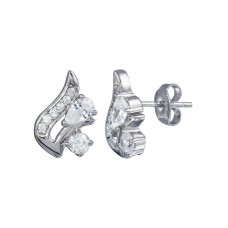 Wholesale Sterling Silver 925 Rhodium Plated Squirrel CZ Stud Earrings - STE01222
