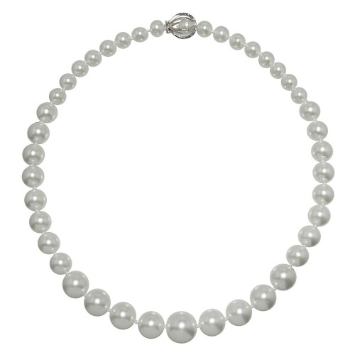 Wholesale Sterling 925 Silver 925 Rhodium Plated Pearl Pendant Necklace - STP00929