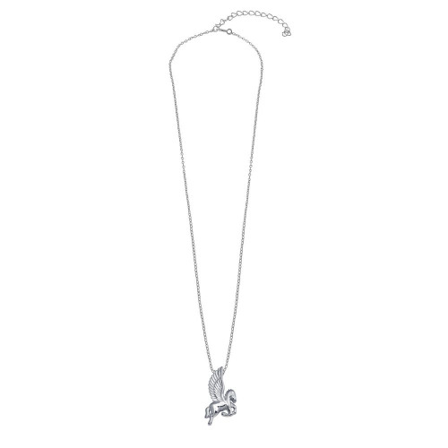 Wholesale Sterling Silver 925 Rhodium Plated Pegasus Necklace - STP01804