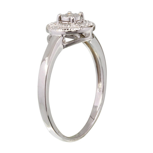 Wholesale Sterling Silver 925 Rhodium Plated Round Ring - STR01081